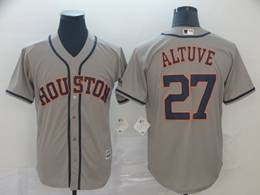 Mens Mlb Houston Astros #27 Jose Altuve Gray 2019 World Series Cool Base Jersey