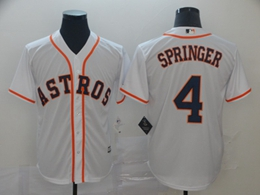Mens Mlb Houston Astros #4 George Springer White 2019 World Series Cool Base Jersey
