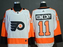 Mens Philadelphia Flyers #11 Travis Konecny White Adidas Jersey
