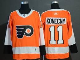 Mens Philadelphia Flyers #11 Travis Konecny Orange Adidas Jersey