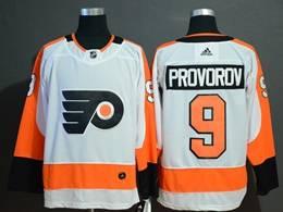 Mens Philadelphia Flyers #9 Ivan Provorov White Adidas Jersey