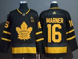 Mens Nhl Toronto Maple Leafs Leafs #16 Mitchell Marner Black City Edition Adidas Jersey