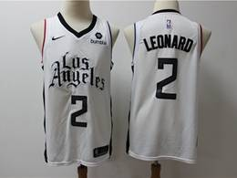Mens Nba Los Angeles Clippers #2 Kawhi Leonard White New Season City Edition Swingman Jersey