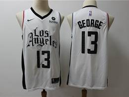 Mens Nba Los Angeles Clippers #13 Paul George White New Season City Edition Swingman Jersey