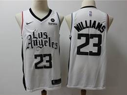 Mens Nba Los Angeles Clippers #23 Lou Williams White New Season City Edition Swingman Jersey