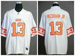 Mens Nfl Cleveland Browns #13 Odell Beckham Jr White Team Logo Cool Edition Vapor Untouchable Limited Jerseys