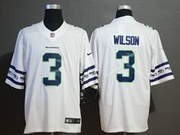Mens Nfl Seattle Seahawks #3 Russell Wilson White Team Logo Cool Edition Vapor Untouchable Limited Jerseys