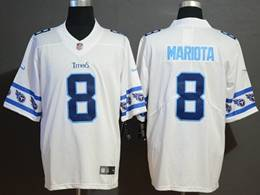 Mens Nfl Tennessee Titans #8 Marcus Mariota White Team Logo Cool Edition Vapor Untouchable Limited Jerseys