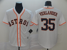Mens Mlb Houston Astros #35 Justin Verlander White Cool Base Player Jersey