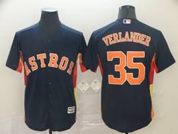 Mens Mlb Houston Astros #35 Justin Verlander Navy Blue Cool Base Player Jersey