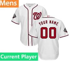 Mens Mlb Washington Nationals Current Player White 2019 World Series Champions Cool Base Jersey