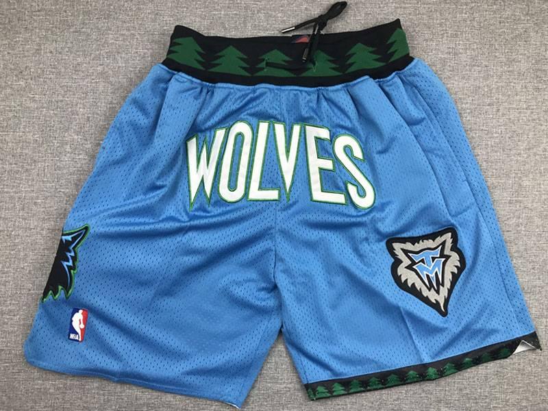 Mens Nba Minnesota Timberwolves Light Blue Nike Just Do Pocket Shorts