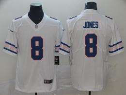 Mens Nfl New York Giants #8 Daniel Jones White Team Logo Cool Edition Vapor Untouchable Limited Jersey