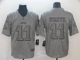 Mens Nfl Philadelphia Eagles #11 Carson Wentz Gray Vapor Untouchable Limited Jerseys