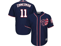 Mens Mlb Washington Nationals #11 Ryan Zimmerman Navy Blue Stars And Stripes Cool Base Jersey