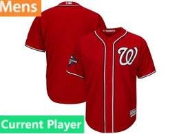 Mens Mlb Washington Nationals Current Player Red 2019 World Series Champions Cool Base Jersey