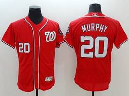 Mens Mlb Washington Nationals #20 Daniel Murphy Red Flex Base Jersey