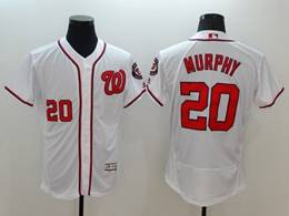 Mens Mlb Washington Nationals #20 Daniel Murphy White Flex Base Jersey