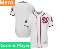 Mens Mlb Washington Nationals Current Player White 2019 World Series Champions Flex Base Jersey