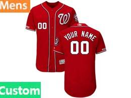 Mens Mlb Washington Nationals Custom Made Red 2019 World Series Champions Flex Base Jersey