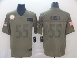 Mens Nfl Pittsburgh Steelers #55 Devin Bush Green 2019 Salute To Service Limited Jersey