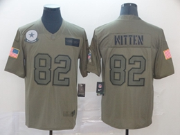 Mens Nfl Dallas Cowboys #82 Jason Witten Green 2019 Salute To Service Limited Jersey