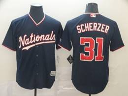 Mens Mlb Washington Nationals #31 Max Scherzer Navy Blue Cool Base Jersey