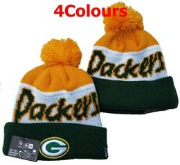 Mens Nfl Green Bay Packers White&green&gray 100th New Sport Knit Hats 4 Colors