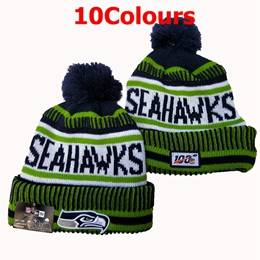 Mens Nfl Seattle Seahawks Green&blue&gray100th New Sport Knit Hats 10 Colors