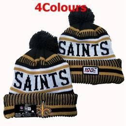 Mens Nfl New Orleans Saints Black&gold&gray 100th New Sport Knit Hats 4 Colors