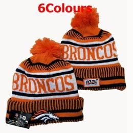 Mens Nfl Denver Broncos Orange&blue&white 100th New Sport Knit Hats 6 Colors