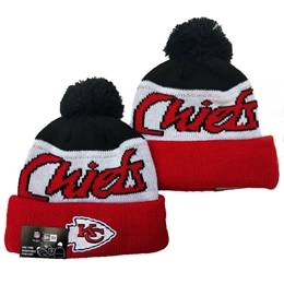 Mens Nfl Kansas City Chiefs Black&white&red Sport Knit Hats