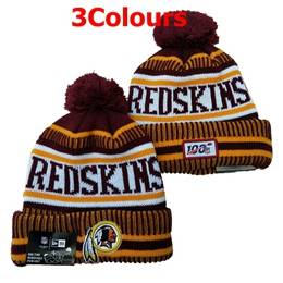 Mens Nfl Washington Redskins Red&yellow&white 100th New Sport Knit Hats 3 Colors