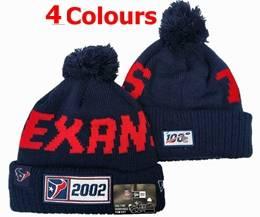 Mens Nfl Houston Texans 100th New Sport Knit Hats 4 Colors