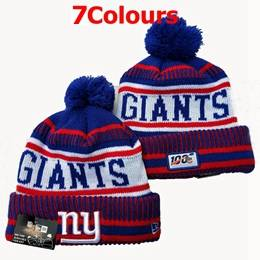 Mens Nfl New York Giants Blue&red&white 100th New Sport Knit Hats 7 Colors
