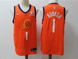 Mens Nba Phoenix Suns #1 Devin Booker Orange New Season Nike Swingman Jersey