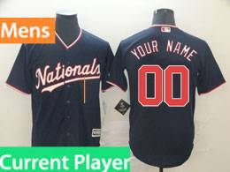 Mens Mlb Washington Nationals Current Player Nationals Navy Blue Cool Base Jersey