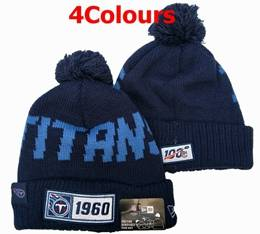Mens Nfl Tennessee Titans Blue&white 100th New Sport Knit Hats 4 Colors