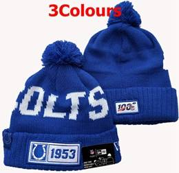 Mens Nfl Indianapolis Colts Blue&white 100th New Sport Knit Hats 3 Colors