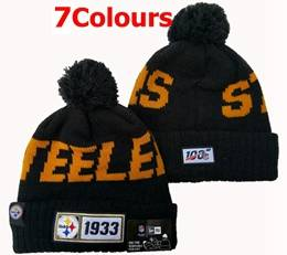 Mens Nfl Pittsburgh Steelers 100th New Sport Knit Hats 7 Colors