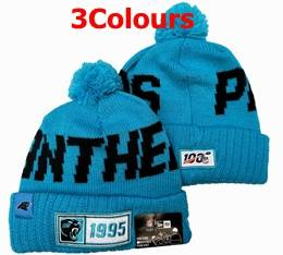 Mens Nfl Carolina Panthers Blue&black 100th New Sport Knit Hats 3 Colors