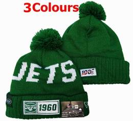Mens Nfl New York Jets Green&white 100th New Sport Knit Hats 3 Colors