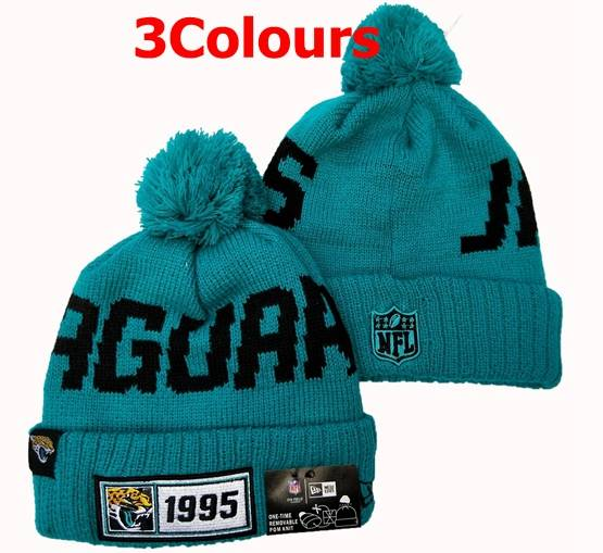 Mens Nfl Jacksonville Jaguars Blue&black 100th New Sport Knit Hats 3 Colors