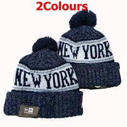 Mens Mlb New York Yankees Blue&gray Sport Knit Hats 2 Colors