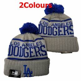 Mens Mlb Los Angeles Dodgers Blue&gray Sport Knit Hats 2 Colors