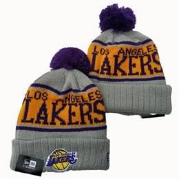 Mens Nba Los Angeles Lakers Gray Sport Knit Hats