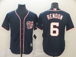 Mens Mlb Washington Nationals #6 Anthony Rendon Navy Blue Stars And Stripes Cool Base Jersey