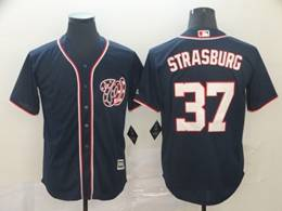 Mens Mlb Washington Nationals #37 Stephen Strasburg Navy Blue Stars And Stripes Cool Base Jersey