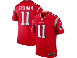 Mens Nfl New England Patriots #11 Julian Edelman Red Nike Inverted Legend Vapor Untouchable Limited Jersey