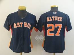 Women Youth Mens Mlb Houston Astros #27 Jose Altuve Navy Blue Cool Base Jersey